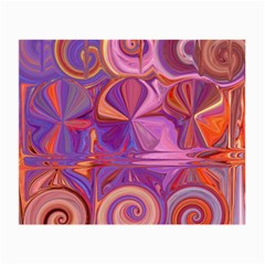 Candy Abstract Pink, Purple, Orange Small Glasses Cloth (2-Side)