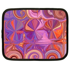 Candy Abstract Pink, Purple, Orange Netbook Case (large)