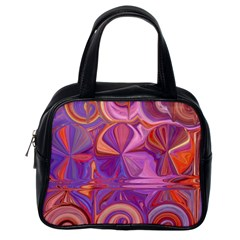 Candy Abstract Pink, Purple, Orange Classic Handbags (One Side)