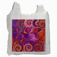 Candy Abstract Pink, Purple, Orange Recycle Bag (Two Side)