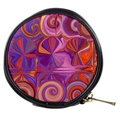 Candy Abstract Pink, Purple, Orange Mini Makeup Bags