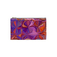Candy Abstract Pink, Purple, Orange Cosmetic Bag (small)