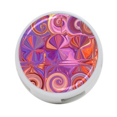 Candy Abstract Pink, Purple, Orange 4 Port Usb Hub (one Side)