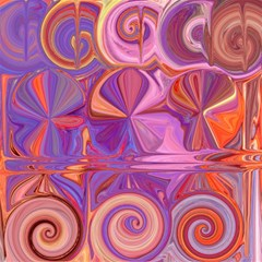 Candy Abstract Pink, Purple, Orange Magic Photo Cubes
