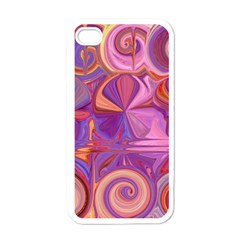 Candy Abstract Pink, Purple, Orange Apple iPhone 4 Case (White)