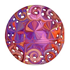 Candy Abstract Pink, Purple, Orange Ornament (round Filigree)
