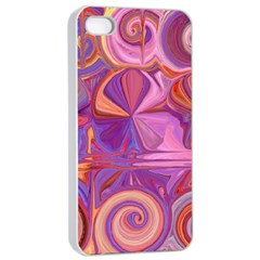 Candy Abstract Pink, Purple, Orange Apple Iphone 4/4s Seamless Case (white)