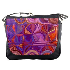 Candy Abstract Pink, Purple, Orange Messenger Bags
