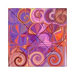 Candy Abstract Pink, Purple, Orange Acrylic Tangram Puzzle (6  x 6 )