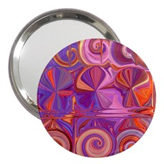 Candy Abstract Pink, Purple, Orange 3  Handbag Mirrors