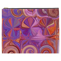 Candy Abstract Pink, Purple, Orange Cosmetic Bag (xxxl)