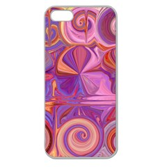 Candy Abstract Pink, Purple, Orange Apple Seamless Iphone 5 Case (clear)