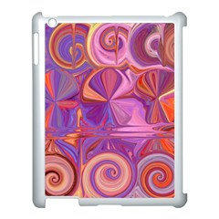 Candy Abstract Pink, Purple, Orange Apple Ipad 3/4 Case (white)