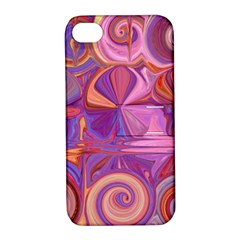Candy Abstract Pink, Purple, Orange Apple Iphone 4/4s Hardshell Case With Stand