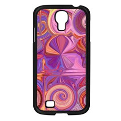 Candy Abstract Pink, Purple, Orange Samsung Galaxy S4 I9500/ I9505 Case (Black)