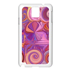 Candy Abstract Pink, Purple, Orange Samsung Galaxy Note 3 N9005 Case (white)