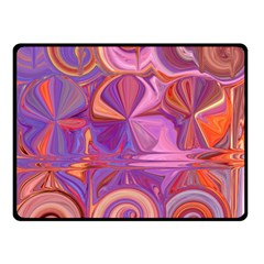 Candy Abstract Pink, Purple, Orange Double Sided Fleece Blanket (small)