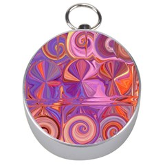 Candy Abstract Pink, Purple, Orange Silver Compasses