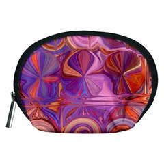 Candy Abstract Pink, Purple, Orange Accessory Pouches (Medium)