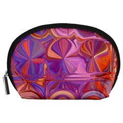 Candy Abstract Pink, Purple, Orange Accessory Pouches (Large)