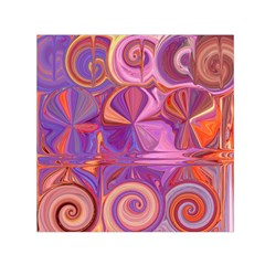 Candy Abstract Pink, Purple, Orange Small Satin Scarf (Square)