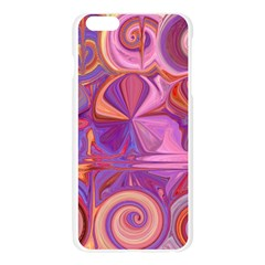 Candy Abstract Pink, Purple, Orange Apple Seamless iPhone 6 Plus/6S Plus Case (Transparent)