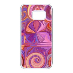 Candy Abstract Pink, Purple, Orange Samsung Galaxy S7 White Seamless Case