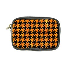 Houndstooth1 Black Marble & Orange Marble Coin Purse