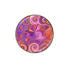 Candy Abstract Pink, Purple, Orange Hat Clip Ball Marker