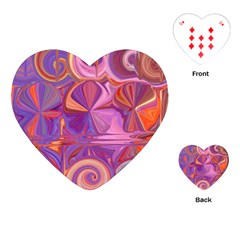 Candy Abstract Pink, Purple, Orange Playing Cards (heart)
