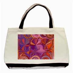 Candy Abstract Pink, Purple, Orange Basic Tote Bag