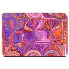 Candy Abstract Pink, Purple, Orange Large Doormat