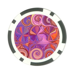 Candy Abstract Pink, Purple, Orange Poker Chip Card Guards