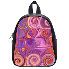 Candy Abstract Pink, Purple, Orange School Bags (small)