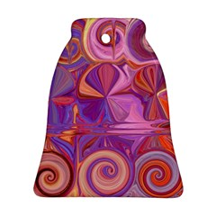 Candy Abstract Pink, Purple, Orange Ornament (bell)