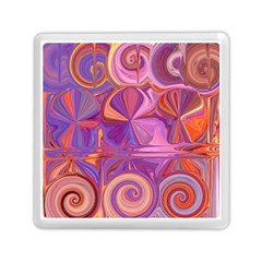 Candy Abstract Pink, Purple, Orange Memory Card Reader (square)