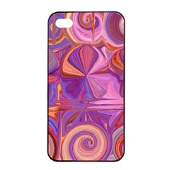 Candy Abstract Pink, Purple, Orange Apple iPhone 4/4s Seamless Case (Black)
