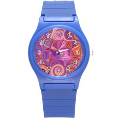 Candy Abstract Pink, Purple, Orange Round Plastic Sport Watch (s)