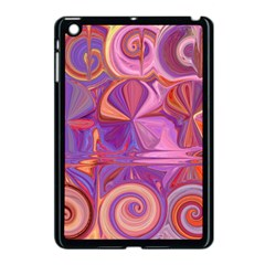 Candy Abstract Pink, Purple, Orange Apple iPad Mini Case (Black)