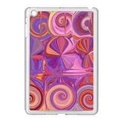 Candy Abstract Pink, Purple, Orange Apple Ipad Mini Case (white)
