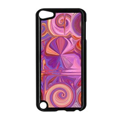 Candy Abstract Pink, Purple, Orange Apple iPod Touch 5 Case (Black)