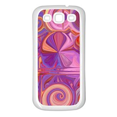 Candy Abstract Pink, Purple, Orange Samsung Galaxy S3 Back Case (White)