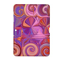 Candy Abstract Pink, Purple, Orange Samsung Galaxy Tab 2 (10 1 ) P5100 Hardshell Case