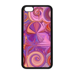 Candy Abstract Pink, Purple, Orange Apple Iphone 5c Seamless Case (black)