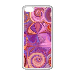 Candy Abstract Pink, Purple, Orange Apple Iphone 5c Seamless Case (white)