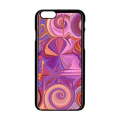 Candy Abstract Pink, Purple, Orange Apple iPhone 6/6S Black Enamel Case