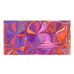Candy Abstract Pink, Purple, Orange Satin Shawl