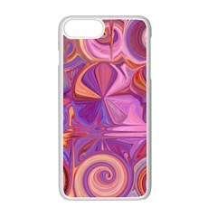 Candy Abstract Pink, Purple, Orange Apple Iphone 7 Plus White Seamless Case