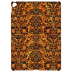 Damask2 Black Marble & Orange Marble (r) Apple Ipad Pro 12 9   Hardshell Case