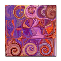 Candy Abstract Pink, Purple, Orange Tile Coasters
